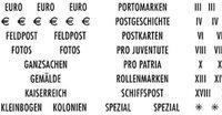 Selvklæbende landeetiketter - Filatelistiske betegnelser