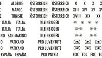 Etiquettes pays, écriture dorée Suisse, France, Autriche etc.