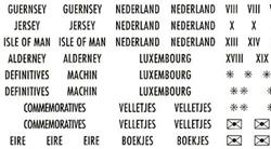 Selvklæbende landeetiketter - Skandinavien, Baltikum, England, Benelux.