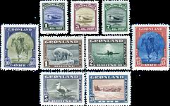 Grønland - Amerikanerudgave - AFA 8-16 Postfrisk luksusudgave!