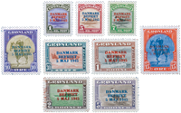 Greenland Amr. issue overprint 17-25