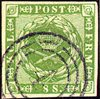 Danmark 1858 - AFA 8 - 8 Skilling grøn
