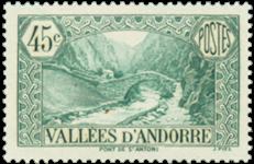 Andorra fransk YT 63 Fransk Andorra Landskaber