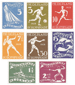 Netherlands 1928 - NVPH 212-219 - Unused
