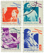 Holland 1931 - NVPH 240-243 - Stemplet