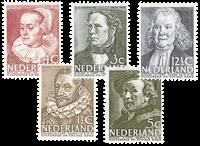 Netherlands 1938 - NVPH 305-309 - Unused