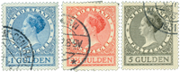 Netherlands 1926-1927- NVPH 163-165 - Cancelled
