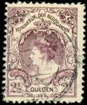 2 1/2 gulden violetgrijs uit de bontkraagserie - Nr. nr 78 - Gebruikt