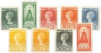 Holland 1923 - NVPH 121-129 - Ubrugt