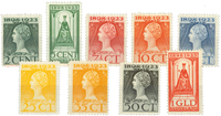 Holland 1923 - NVPH 121-129 - Ubrugt
