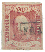 Holland 1864 - NVPH 1 - Stemplet