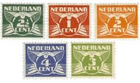 Holland 1924-1925 - NVPH 144-148 - Postfrisk