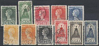 Holland 1923 - NVPH 121-131 - Stemplet