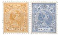 Holland - NVPH 34+35, - Ubrugt