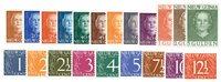 Nederland - Cijferserie 1950 (nr. 1-21, Postfrisk)