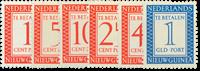 Nederland - Portzegels 1957 (nr. P1-P6, postfris)