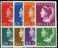 Nederland - Koningin Wilhelmina Konijnenburg 1941 (nr. 274-81, postfris)