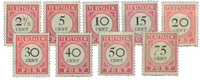 Nederlands Indië 1892-1909 - Nr. P14-P22 - Ongebruikt