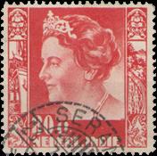 Nederland Indië - 80 ct oranjerood uit Wilhelminaserie 1938 (nr. 262, gebru