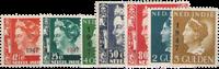 Nederland Indië - Overdruk in zwart 1947 (nr. 326-332, ongebruikt)