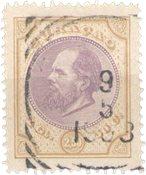 Curacao - 2½ florin Willem III No 12 - Oblitéré