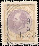 Curacao - 2 1/2 gld olijfgeel en lila Willem III 1889 (nr. 12, gebruikt)