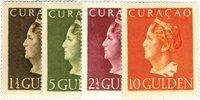 Curacao - Koningin Wilhelmina Konijnenburg 1947 (nr. 178-181, postfrisk)