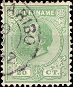 Suriname - 20 ct groen Koning Willem III (nr. 9, gebruikt)