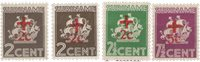 Suriname - Rode Kruiszegels 1942 (nr. 202-205, postfrisk)