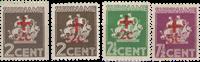 Suriname - Rode Kruiszegels 1942 (nr. 202-205, postfris)