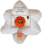 花形状的花邮品小型张 - 纪念邮折
