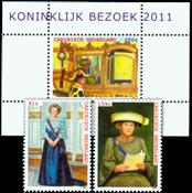 Caribbean Netherlands - Royal visit 2011 - Mint set and souvenir sheet