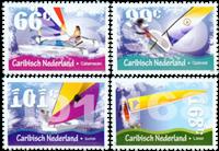 Caribbean Netherlands - Sailing boats - Mint set 4v