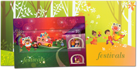 Singapore - Festivaller - Postfrisk miniark i folder