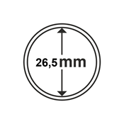 Leuchtturm møntkapsler - Indre Ø: 26,5 mm - Ydre Ø: 33 mm - 100 stk.
