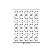Møntboks - Røgfarvet - 35 runde inddelinger