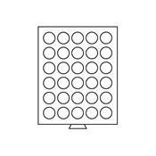 Boîte pour 30 monnaies Ø34mm - 30 compartiments circulaires - couleur fumée