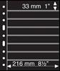 Pochettes plastiques GRANDE, 8 Bandes horizontales, noires, de Leuchtturm
