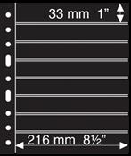 Grand A4 护袋活页,8条条形,黑色,每包5页