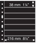 GRANDE sheets - Black - 7 horizontal stripes - Pack of 5 - Lighthouse