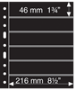 Grande A4 lommer - 6 S - Sort - Pakke med 5 stk. -  Leuchtturm