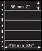 Pochettes plastiques GRANDE, 5 Bandes horizontales  noires, de Leuchtturm