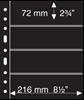 Pochettes plastiques GRANDE, avec 4 Bandes horizontales, noires, Leuchtturm