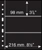 Grande A4 lommer - 3 S - Sort - Pakke med 5 stk. fra Leuchtturm