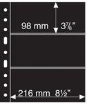 Grand A4 护袋活页,3条条形, 黑色,每包5页