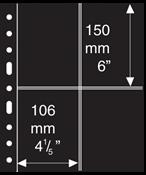 Pochettes GRANDE de Leuchtturm 4 compartmts, 2 ST Cartes Postales, noir