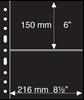 Pochettes plastiques GRANDE, 2 Bandes horizontales, noires, de Leuchtturm