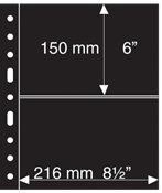 GRANDE sheets - Black - Banknotes (up to A5) - Pack of 5 - Lighthouse
