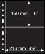 Grand A4 护袋活页,2条条形,黑色,每包5页