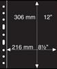 Grande A4 lommer - 1 S - Sort - Pakke med 5 stk. -fra Leuchtturm